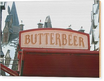 Butterbeer Sign Wood Print