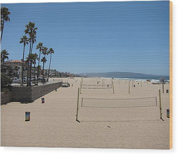 Ca Beach - 12121 Wood Print by DC Photographer