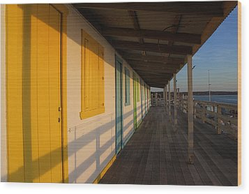 Cabana's West Meadow Beach New York Wood Print