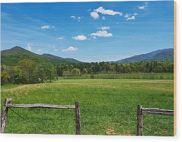 Cades Cove Wood Print by Melinda Fawver