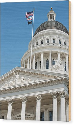 California State Capitol In Sacramento Wood Print