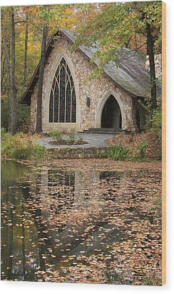 Callaway Gardens Chapel-pine Mountain Georgia Wood Print by Mountains to the Sea Photo
