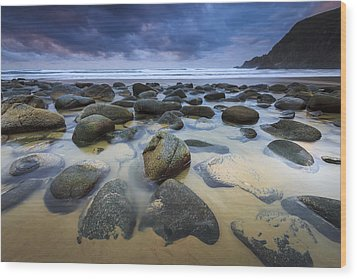 Campelo Beach Galicia Spain Wood Print by Pablo Avanzini