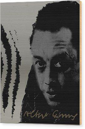 Camus Wood Print by Asok Mukhopadhyay