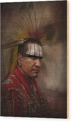 Canadian Aboriginal Man Wood Print