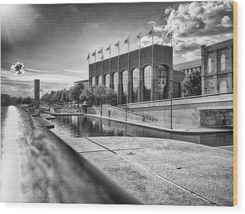 Wood Print featuring the photograph Canal Walk by Howard Salmon