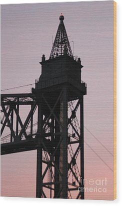 Cape Cod Canal Train Bridge Wood Print