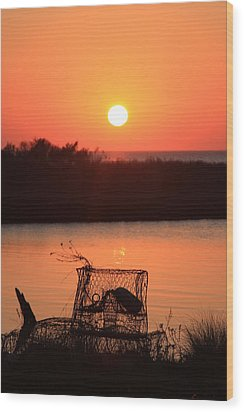 Wood Print featuring the photograph Cape Hatteras Sunset North Carolina by Mountains to the Sea Photo