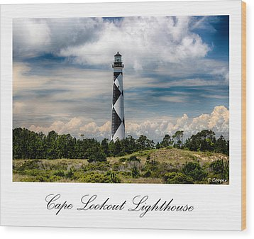 Cape Lookout Lighthouse Wood Print by Tony Cooper
