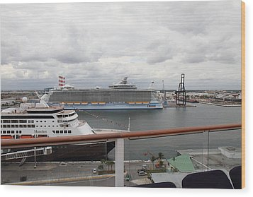 Caribbean Cruise - On Board Ship - 121214 Wood Print by DC Photographer