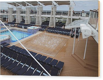 Caribbean Cruise - On Board Ship - 12129 Wood Print by DC Photographer
