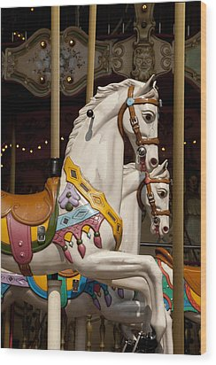 Carousel 1 Wood Print by Art Ferrier