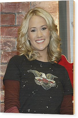 Carrie Underwood Wood Print by Don Olea