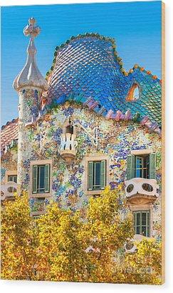 Casa Batllo - Barcelona Wood Print by Luciano Mortula