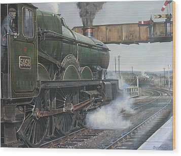 Castle Class 4.6.0. Wood Print by Mike  Jeffries