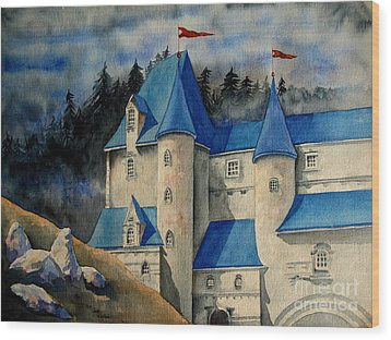 Castle In The Black Forest Wood Print by Ranjini Kandasamy