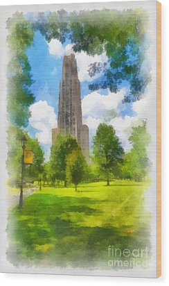 Cathedral Of Learning University Of Pittsburgh Wood Print by Amy Cicconi