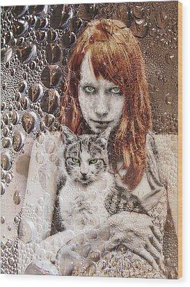 Cats Wood Print by Joachim G Pinkawa