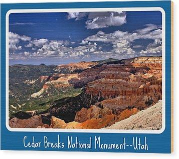 Cedar Breaks Nm Wood Print