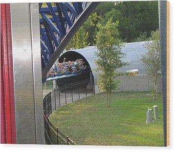 Cedar Point - Millennium Force - 12122 Wood Print by DC Photographer