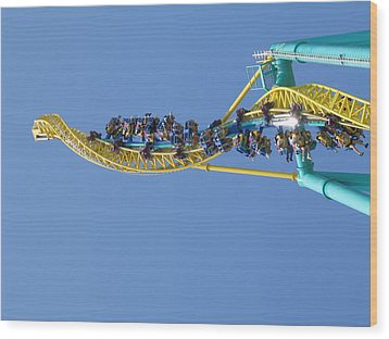 Cedar Point - Wicked Twister - 12122 Wood Print by DC Photographer