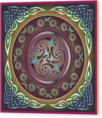 Celtic Pattern Wood Print by Ireland Calling