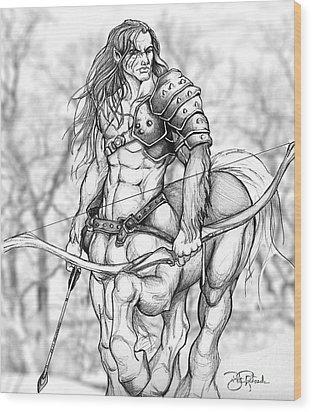Centaur Wood Print by Bill Richards
