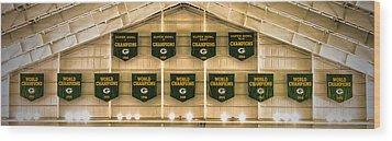 Championship Banners Wood Print