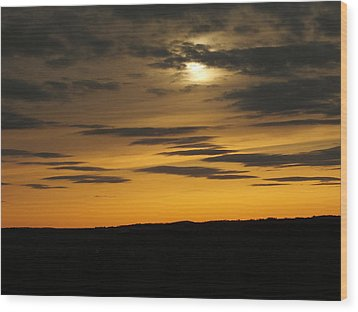 Wood Print featuring the photograph Changing Sky by Gene Cyr