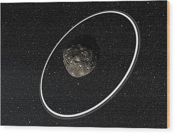 Chariklo Minor Planet And Rings Wood Print by European Southern Observatory