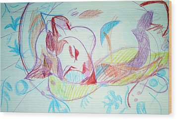Charity Wood Print by Anita Dale Livaditis