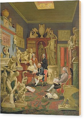 Charles Townley And His Friends Wood Print by Johann Zoffany