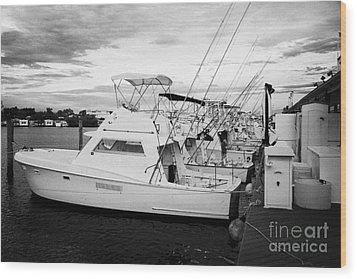 Charter Fishing Boats Charter Boat Row City Marina Key West Florida Usa Wood Print by Joe Fox