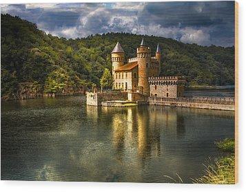 Chateau De La Roche Wood Print