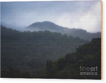 Cherokee Mountains Wood Print by Eva Thomas