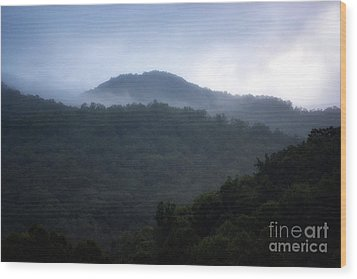 Cherokee Mountains Wood Print