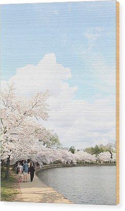 Cherry Blossoms - Washington Dc - 01131 Wood Print by DC Photographer