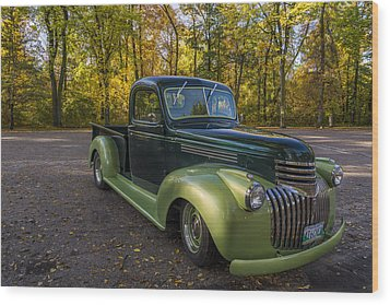 Chevy Truck Wood Print