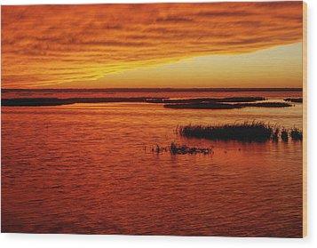 Cheyenne Bottoms Sunset Wood Print