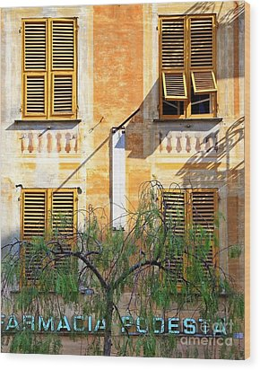 Chiavari Windows Wood Print