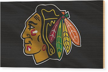 Chicago Blackhawks Uniform Wood Print by Joe Hamilton