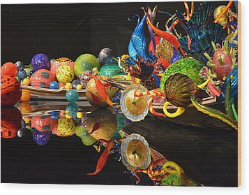 Chihuly-14 Wood Print by Dean Ferreira