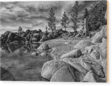 Chimney Beach Lake Tahoe Wood Print by Scott McGuire