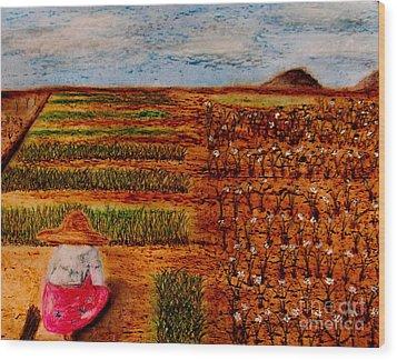 Chive Harvest Wood Print by Ayasha Loya
