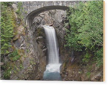 Christine Falls Mount Rainier National Park Wood Print
