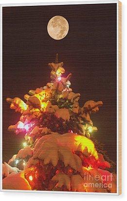 Wood Print featuring the digital art Christmas Tree Seneca Falls by Tom Romeo