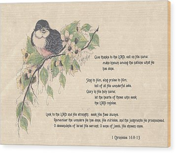 1 Chronicles 16 Wood Print