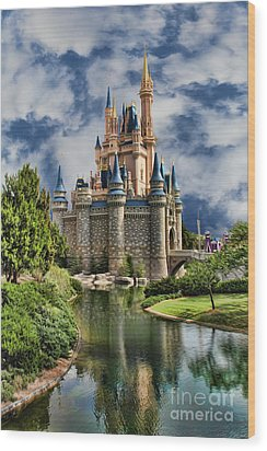 Cinderella Castle II Wood Print by Lee Dos Santos