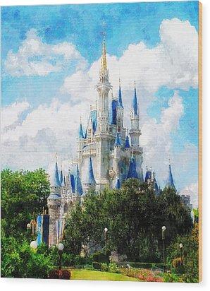 Cinderella Castle Wood Print by Sandy MacGowan