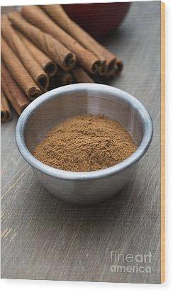 Cinnamon Spice Wood Print by Edward Fielding